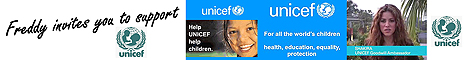 Freddy invites you to support UNICEF